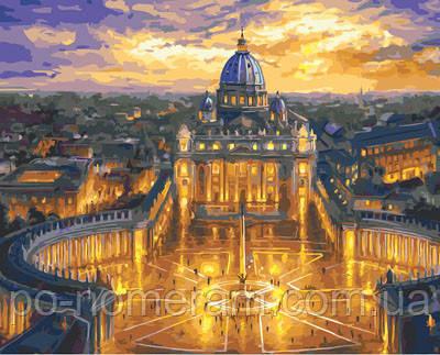 Полотно для малювання Собор Святого Петра Ватикан (BK-GX23730) 40 х 50 см (Без коробки)