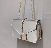 Стильная голографическая сумка клатч на цепочке, фото 2