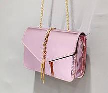Стильная голографическая сумка клатч на цепочке, фото 3