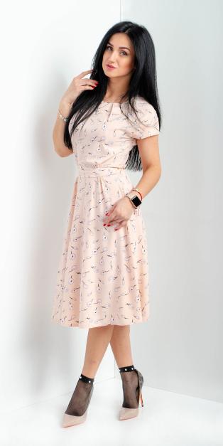 """Модное платье """"Нежность"""" размеры 44"""