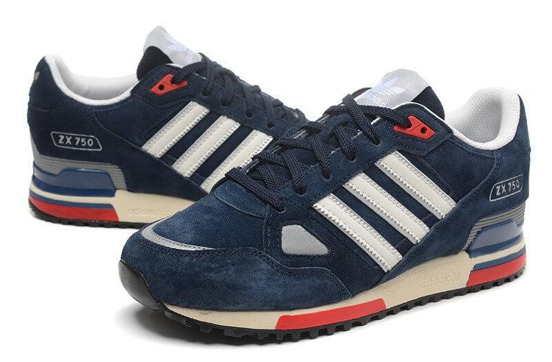 edb38d47 Кроссовки Adidas ZX 750 Синие с белым - Интернет магазин обуви «im-РоLLi»