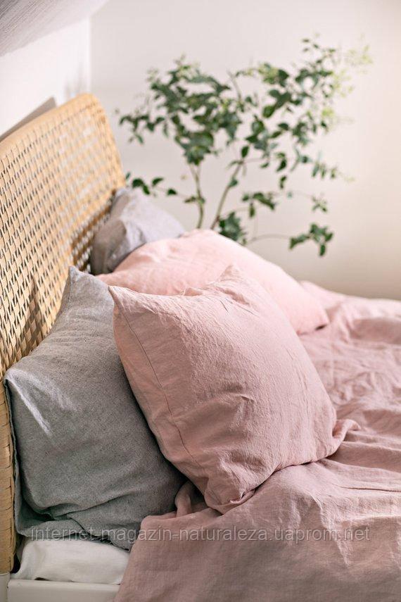 Комплект постельного белья евро лен 220 х 200 микс