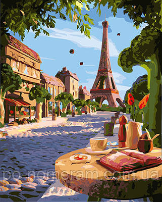 Картина за номерами Літній Париж (BRM26259) 40 х 50 см