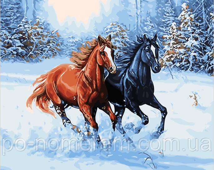 Картина по номерам Зимняя прогулка (BRM28318) 40 х 50 см