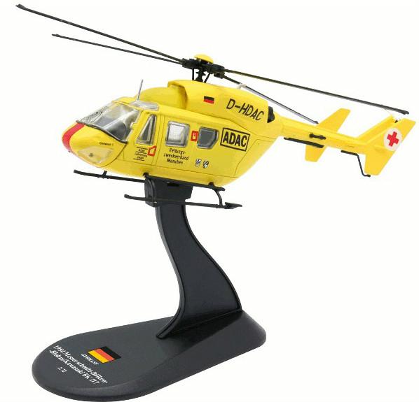 Модель Вертолеты Мира (Amercom) №38. MBB.Kawasaki BK 117 в масштабе 1:72