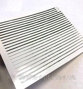 Гибкая лента для ногтей серебро