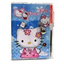 "Блокнот 100307 ""Hello Kitty"" на кнопке, с ручкой"