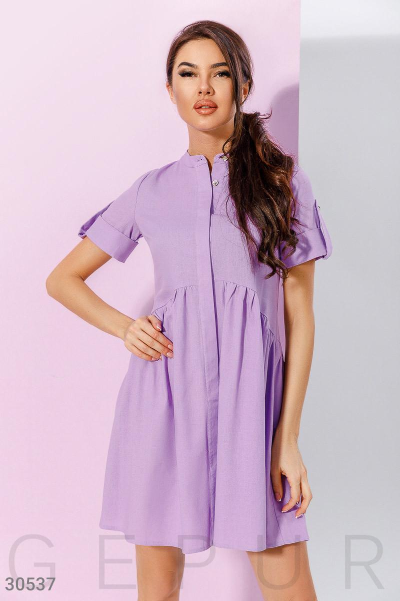 40e560e127f Платье рубашка длины миди с расклешенной юбкой лавандовое - LeButon в Одессе