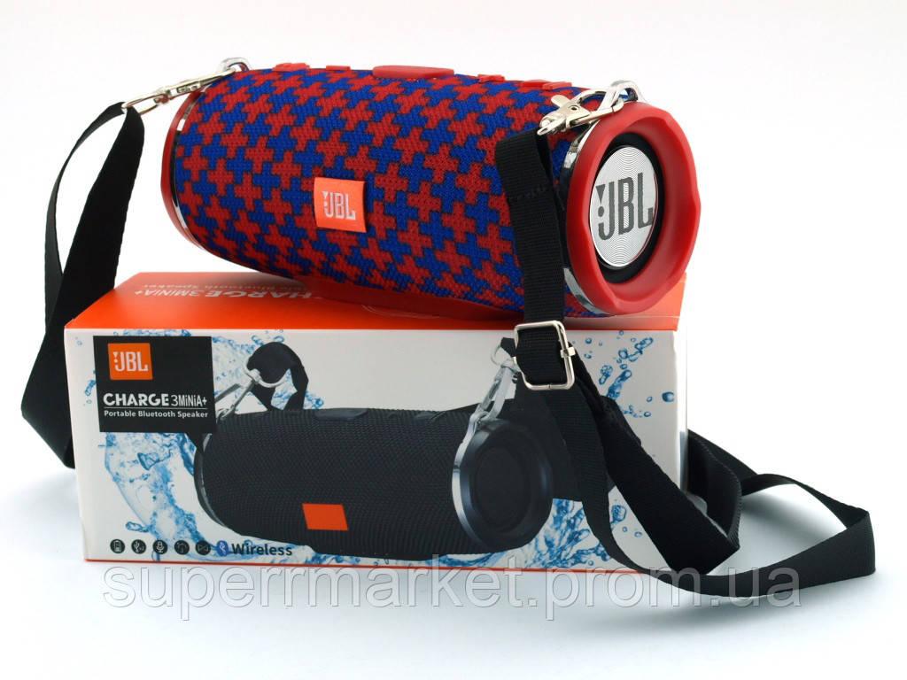 JBL Charge 3 mini A+ в стиле xtreme, портативная колонка с Bluetooth FM MP3, Malta красная с синим