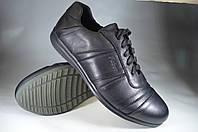 Мужские мужские спортивные туфли кожаные faber 590.н черные   весенние , фото 1