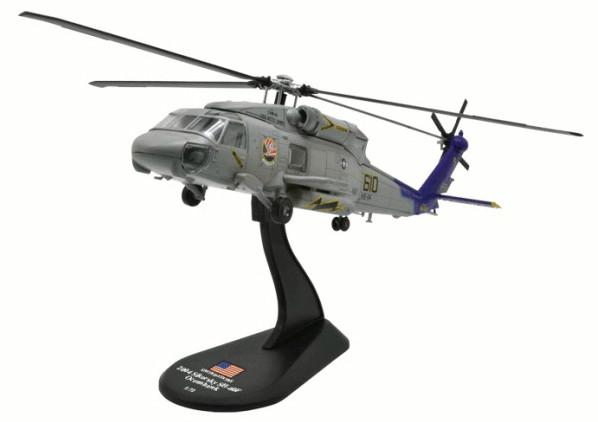Модель Вертолеты Мира (Amercom) №44. Sikorsky SH-60F Oceanhawk в масштабе 1:72