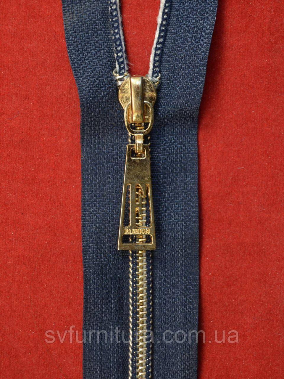Блискавка спіраль 5 антик Fashion Dark blue 95см