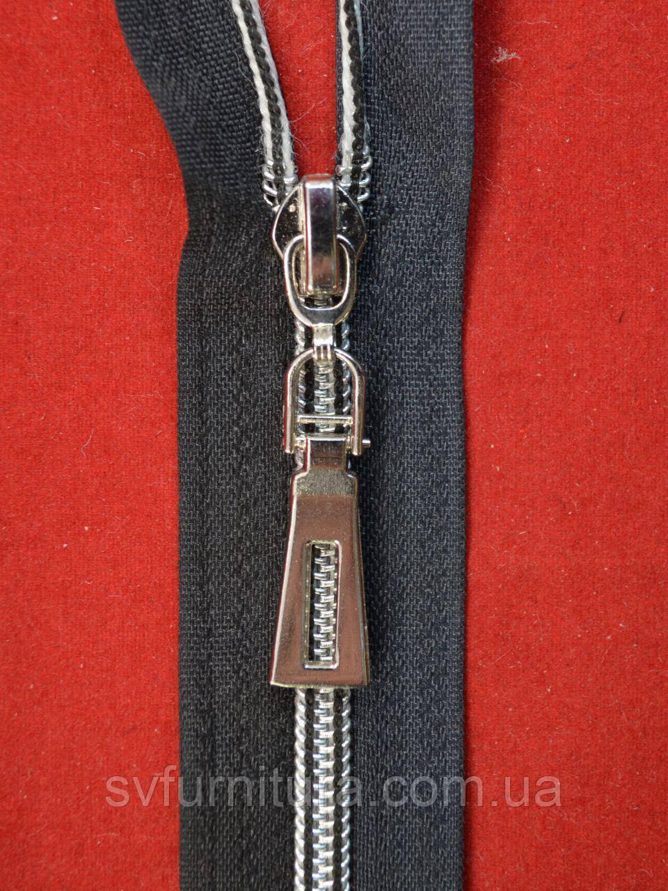 Блискавка спіраль 5 антик Малий трик срібло 322 80см