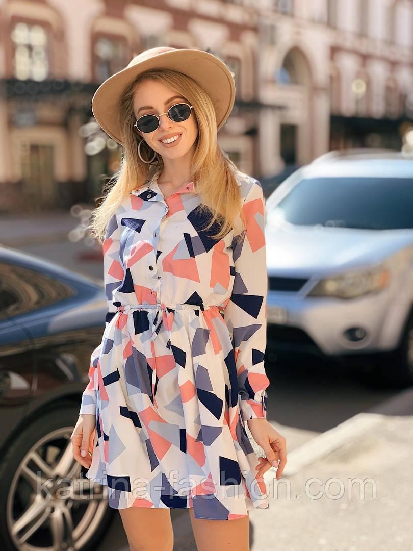 Женское легкое платье с принтами (в расцветках)