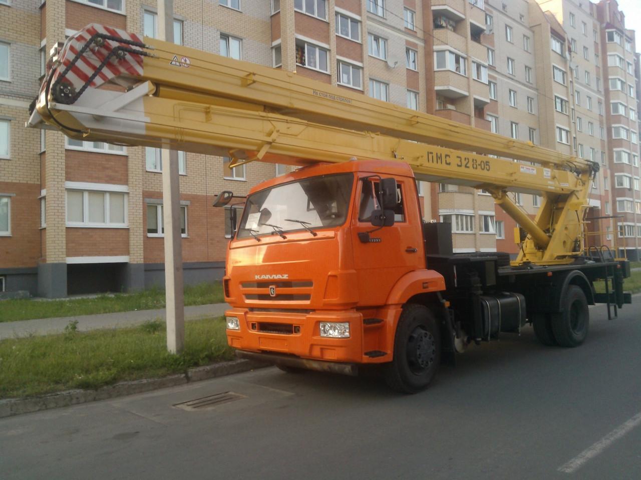ПОДЪЕМНИК МОНТАЖНЫЙ СТРЕЛОВОЙ ПМС-328-05 (автовышка)