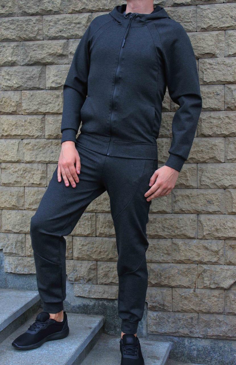 Темно-серый трикотажный костюм Jordan  с капюшоном 44 размер (Реплика)