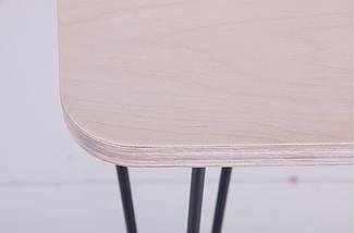Стол Frame 120х60 черный графит/фанера TM AMF, фото 3