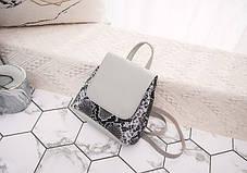 Стильний міні рюкзак сумка під шкіру пітона, фото 3