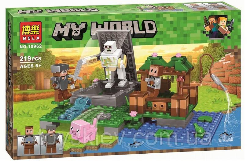 Конструктор Bela 10962 Майнкрафт Голем на ферме (аналог Lego Minecraft)