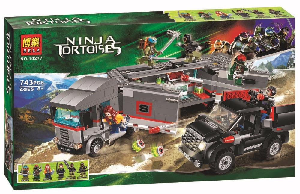 Конструктор Bela 10277 Черепашки Ниндзя Большая снежная погоня (аналог Lego Ninja Turtles 79116)