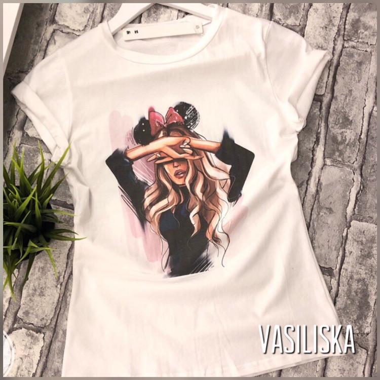 b2a0b2ef203b7fd Красивые модные футболки с модным принтом В-533: продажа, цена в ...