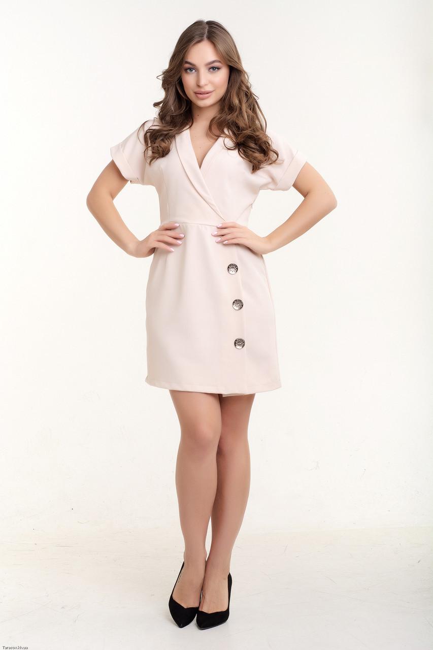 Платье K&ML 518 бежевый 44