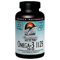 Рыбий жир с Омега-3, Source Naturals, 125 мг, 60 капсул