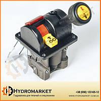 Джойстик подъема кузова трехпозиционный (Пневматический контроллер управления самосвала) Joystick Hipomak, фото 1