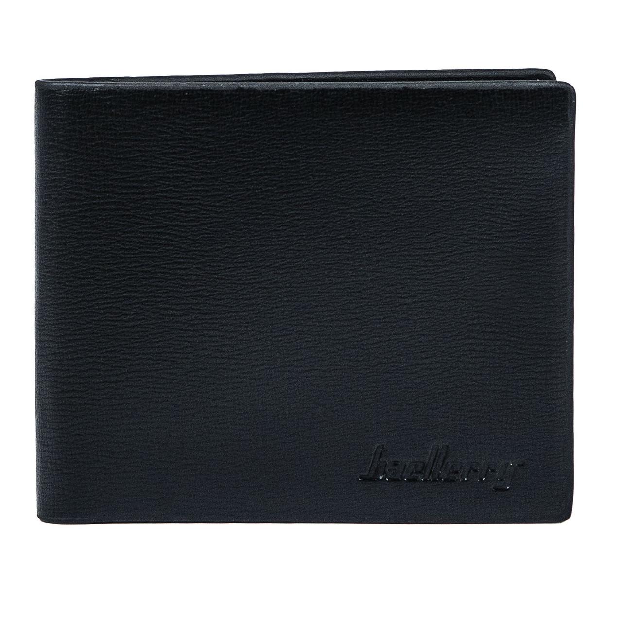Мужской Кошелек Бумажник Baellerry (R1865) Двойного Сложения Искусственная Кожа Черный