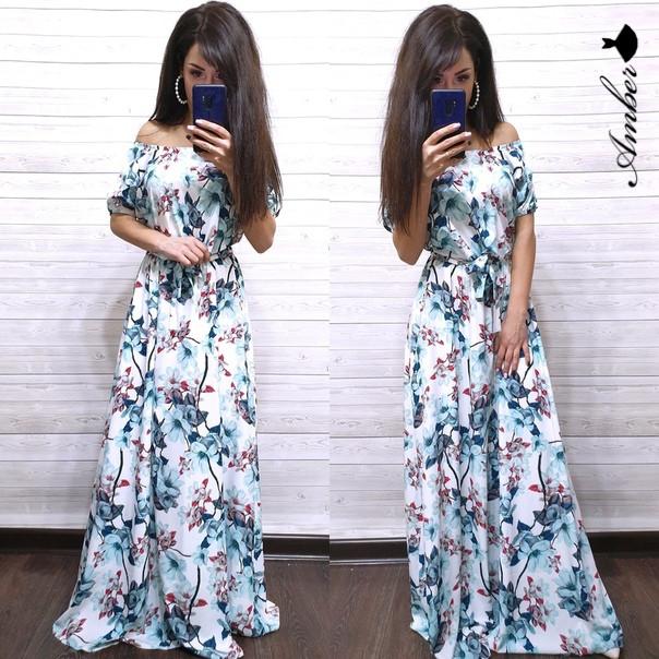 479d9efa95745 Женское летнее платье в пол от