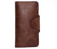 Уценка! Стильные портмоне-клатч мужское кожаное CarWallet Black, фото 1