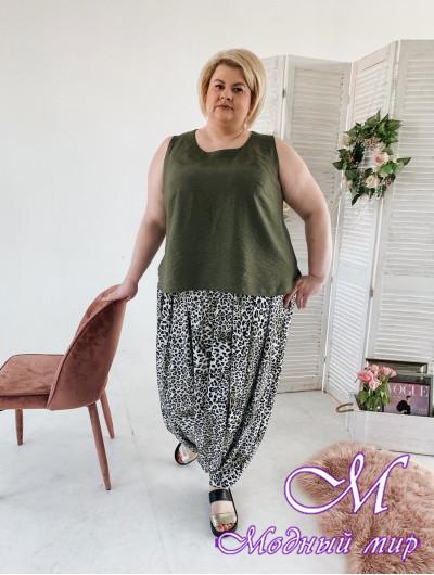 Женские летние брюки большого размера (р. 42-90) арт. Болонья
