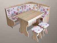Кухонный комплект «Корона» (стол+2 табуретки) Lion