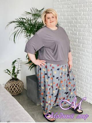 Летние женские брюки большого размера (р. 42-90) арт. Болонья, фото 2