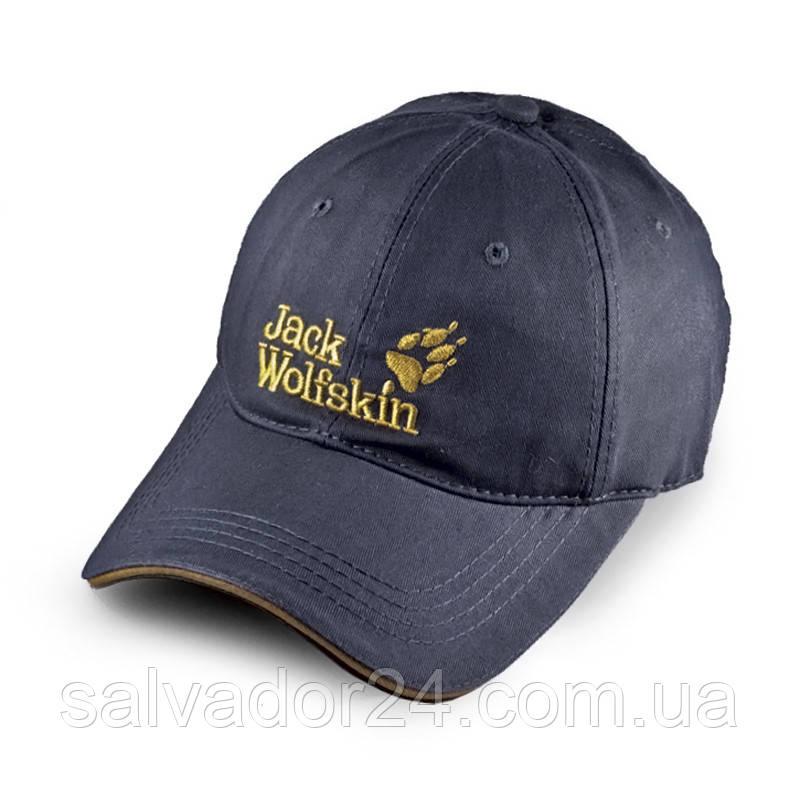 Бейсболка Jack Wolfskin, серая кепка блайзер