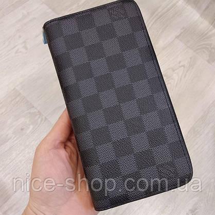 Кошелек Louis Vuitton Люкс черный в клетку в коробке, фото 2