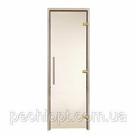 Двері для лазні GREUS Premium 70/190 бронза