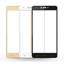 Защитное стекло Full Glue для Xiaomi Redmi Note 4X (чёрный)