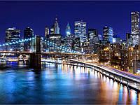 Алмазная живопись Ночной мегаполис не спит 40 х 60 см (арт. FS854) квадратные камни