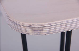 Стол Frame 80х80 черный графит/фанера TM AMF, фото 2
