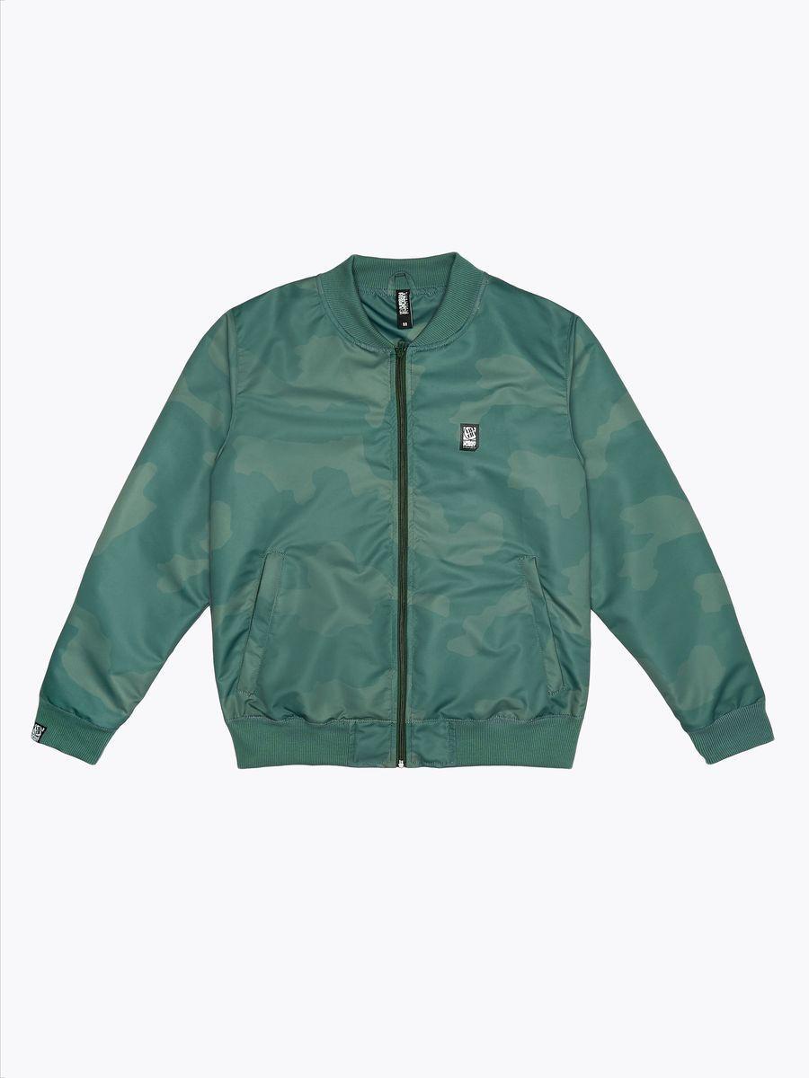 Куртка мужская бомбер Urban Planet CAMO BOMB KHK зеленая XS S M L XL XXL