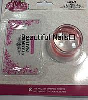 Набор для стемпинга штамп и скрапер Stamping Naill Art
