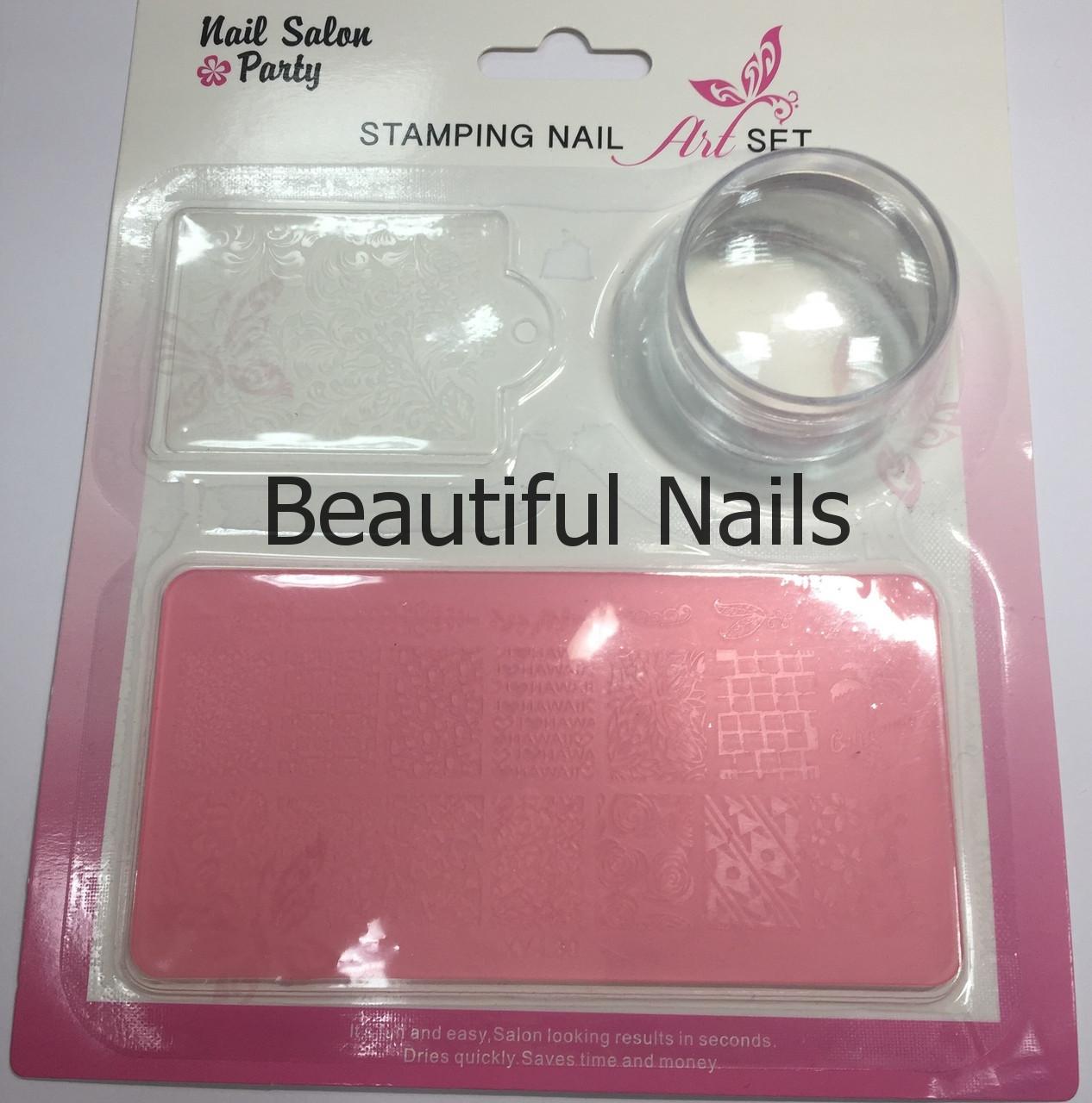 Набор для стемпинга пластина,штамп и скрапер Stamping Art Set