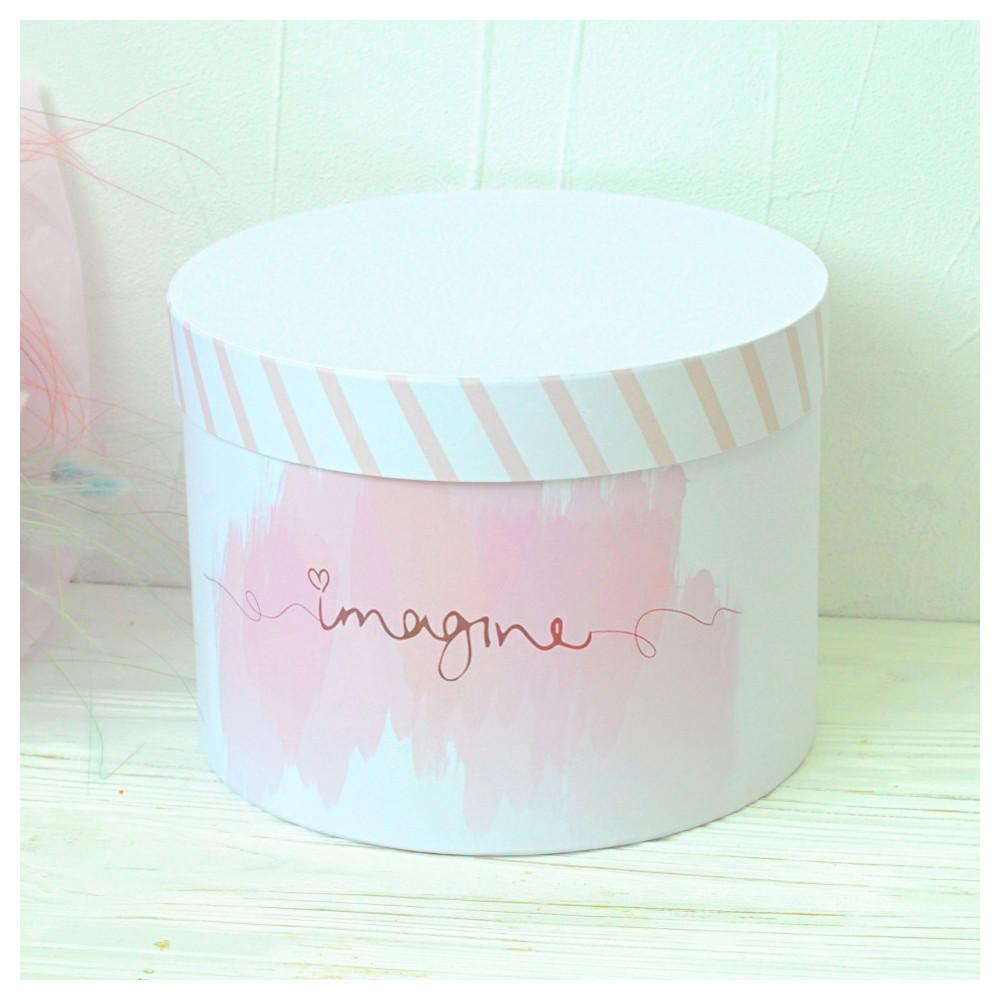"Шляпная коробка ""Imagine"" d16 h15"