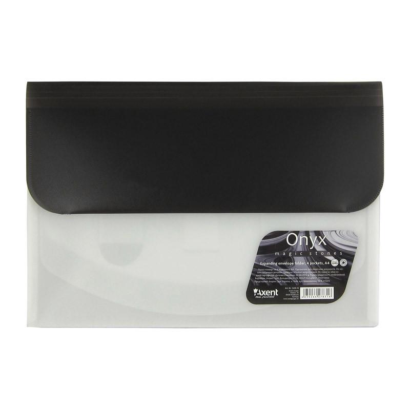 Папка-конверт А4 на 4 отделения Оникс(черная)