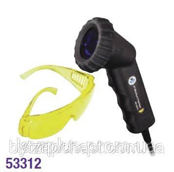 Ультрафиолетовая лампа 50W/12V, провод 5м, очки для защиты глаз от ультрафиолетового излучения (UVMC-53312) - БытЗапчасть в Харькове