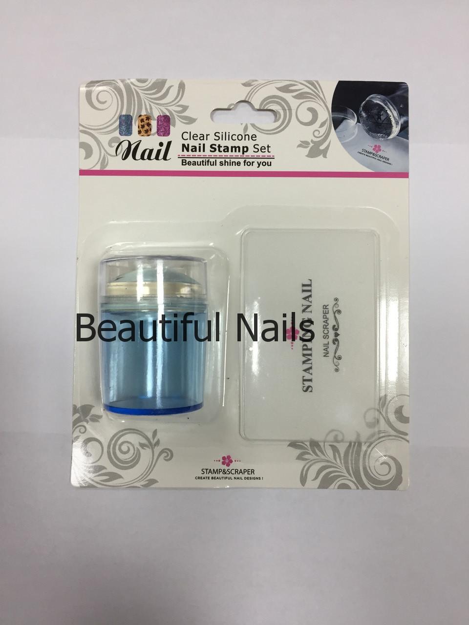 Набор для стемпинга штамп и скрапер Naill Stamp Set