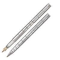 Набор ручка шариковая и перьевая Cabinet Glossy Couple, хром (O15919-45)