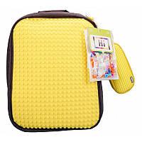 Набор рюкзак Upixel Classic, желтый + пенал