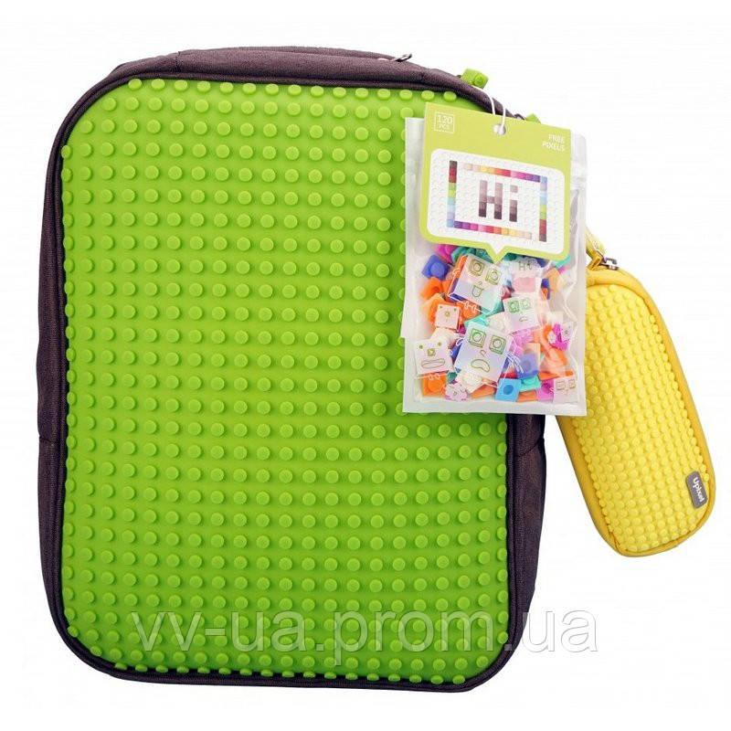 Набор рюкзак Upixel Classic, зеленый + пенал